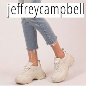 NWT🌹jeffrey Campbell Chunky Leather Lace-Up Sneak